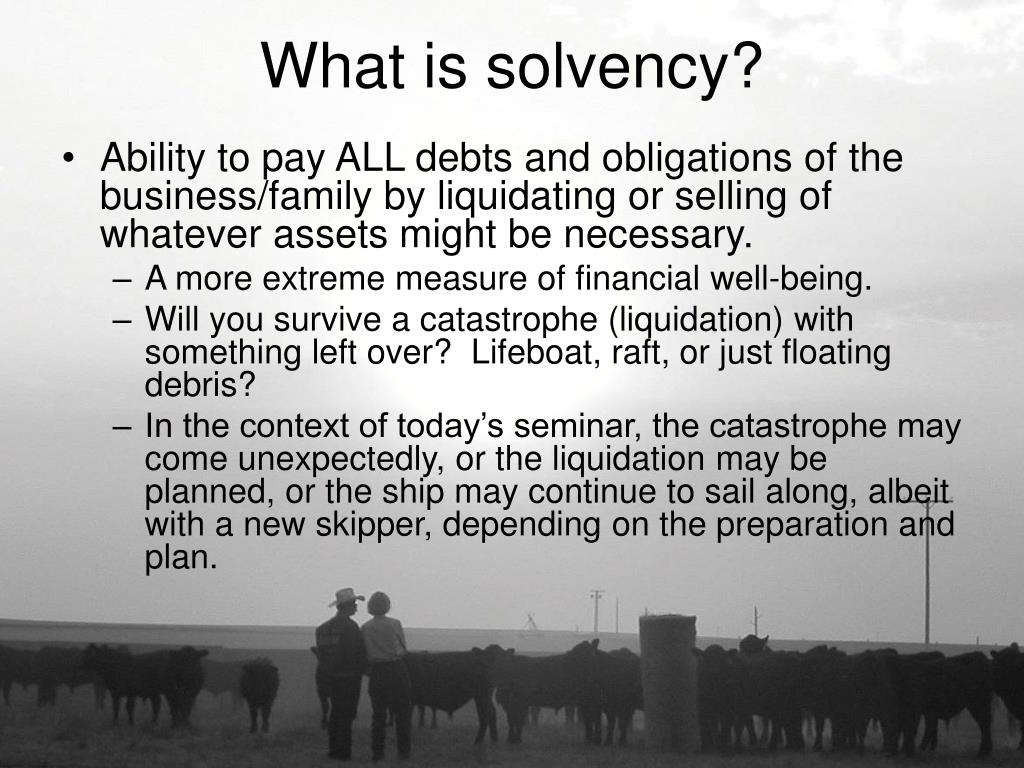 What is solvency?