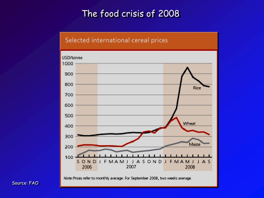The food crisis of 2008