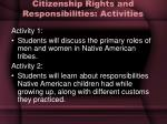 citizenship rights and responsibilities activities