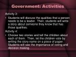 government activities27