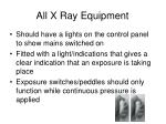 all x ray equipment