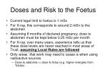 doses and risk to the foetus