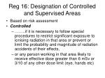 reg 16 designation of controlled and supervised areas