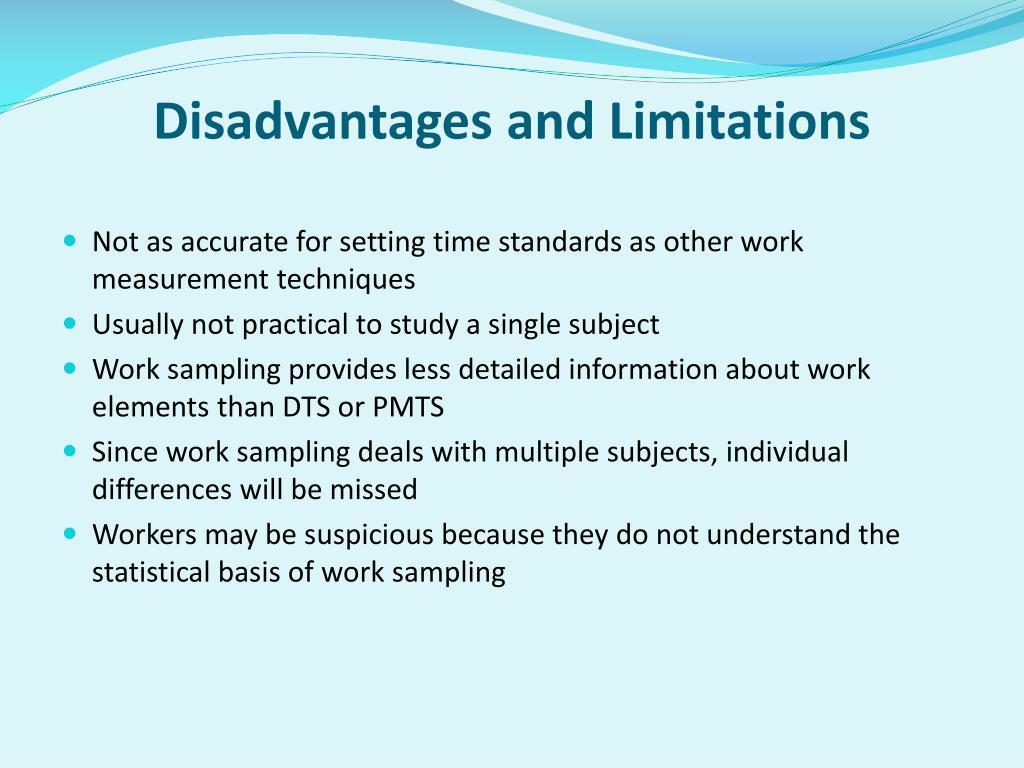 Disadvantages and Limitations