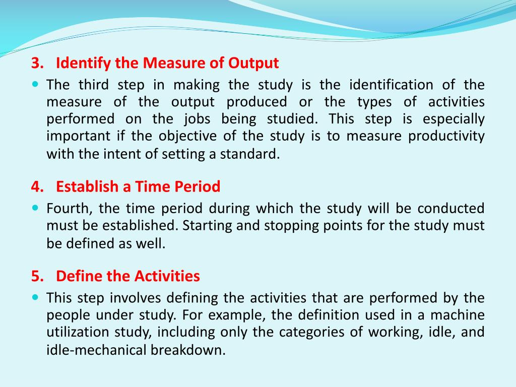 3.   Identify the Measure of Output