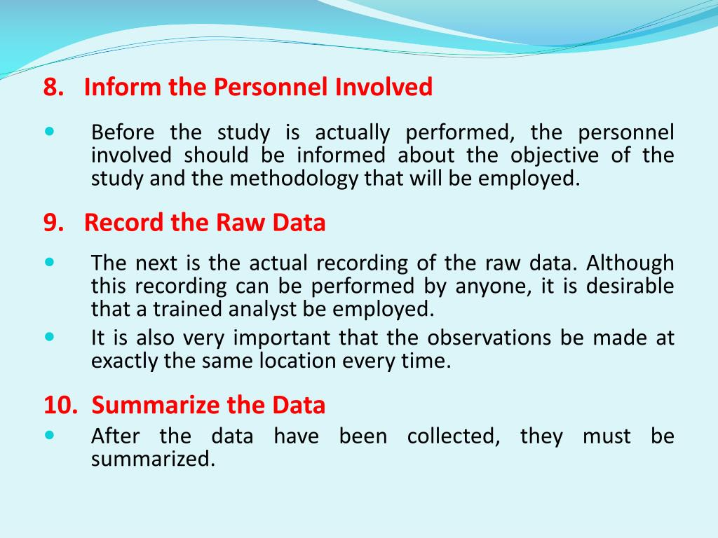 8.   Inform the Personnel Involved