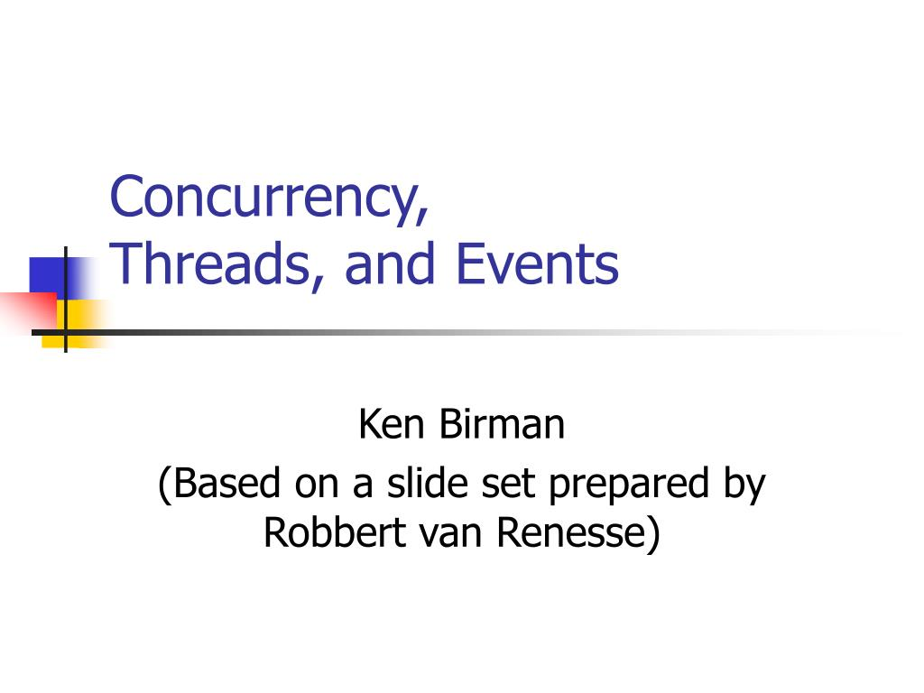 concurrency threads and events