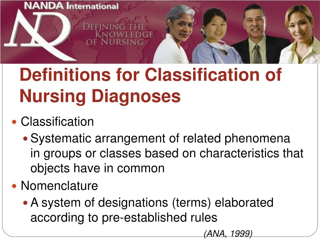 Definitions for Classification of Nursing Diagnoses