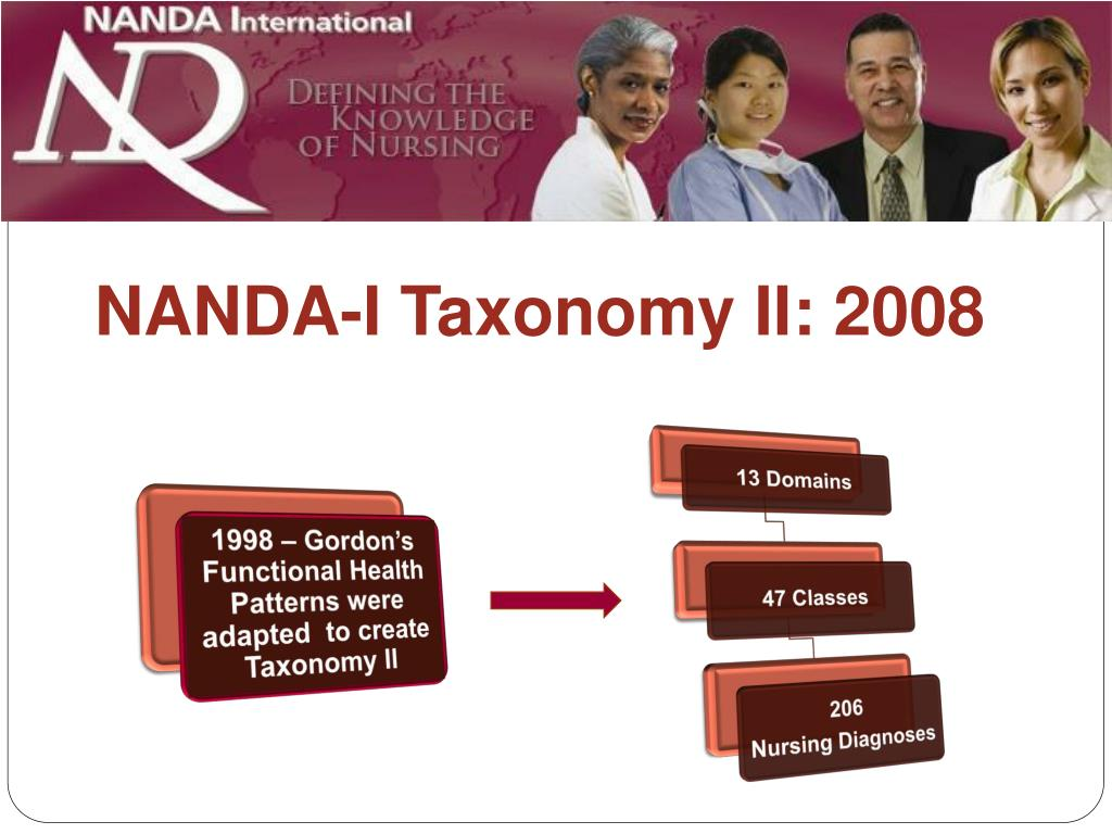1998 – Gordon's Functional Health Patterns were adapted  to create Taxonomy II