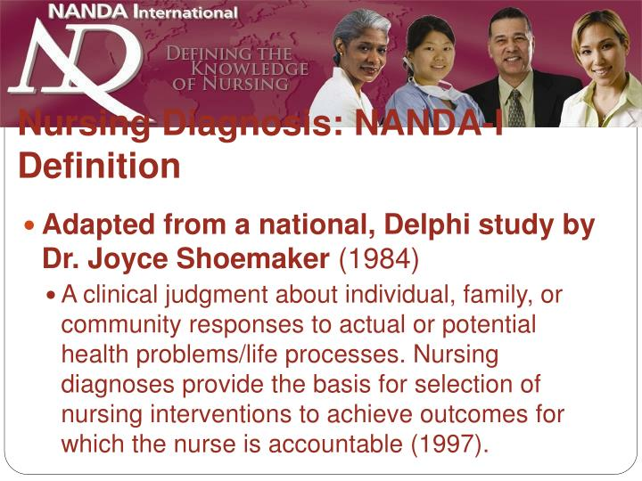 Nursing diagnosis nanda i definition