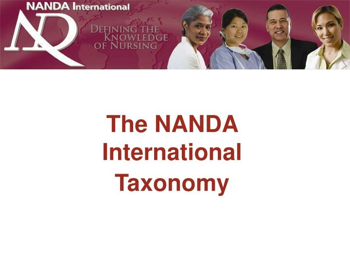 Taxonomy of nursing diagnoses