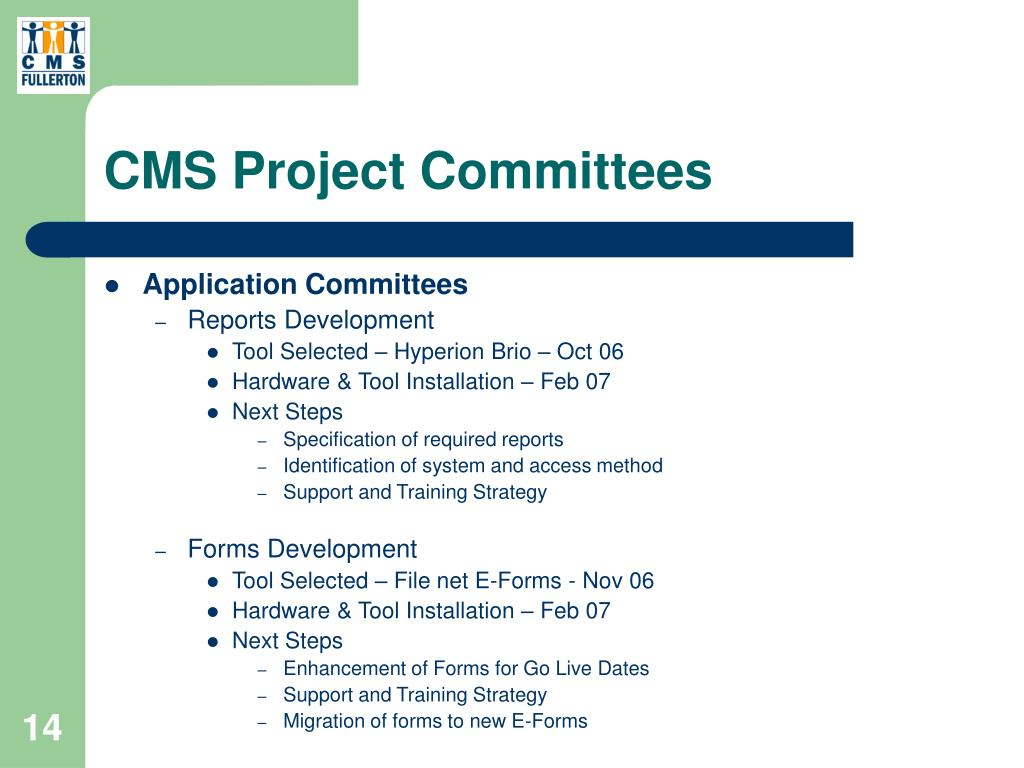 CMS Project Committees