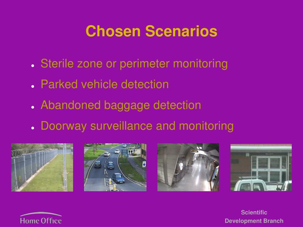Chosen Scenarios