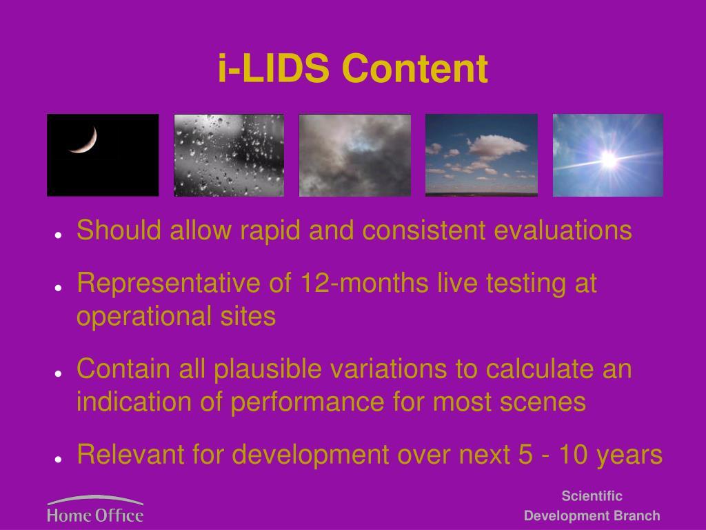 i-LIDS Content