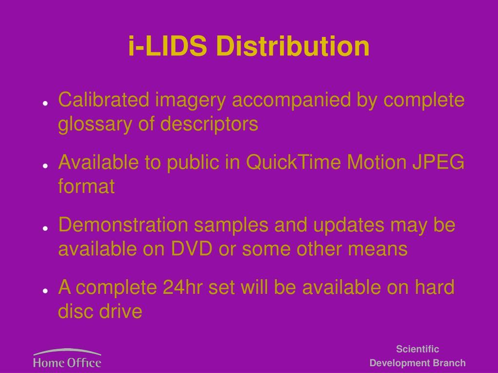 i-LIDS Distribution