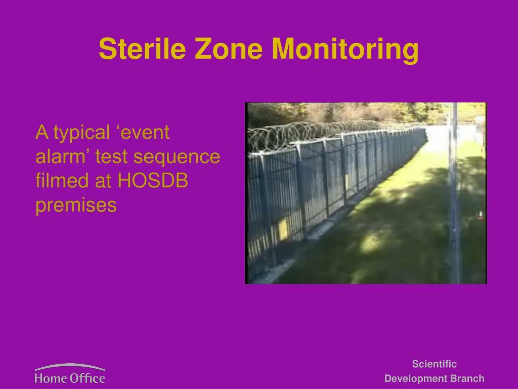 Sterile Zone Monitoring