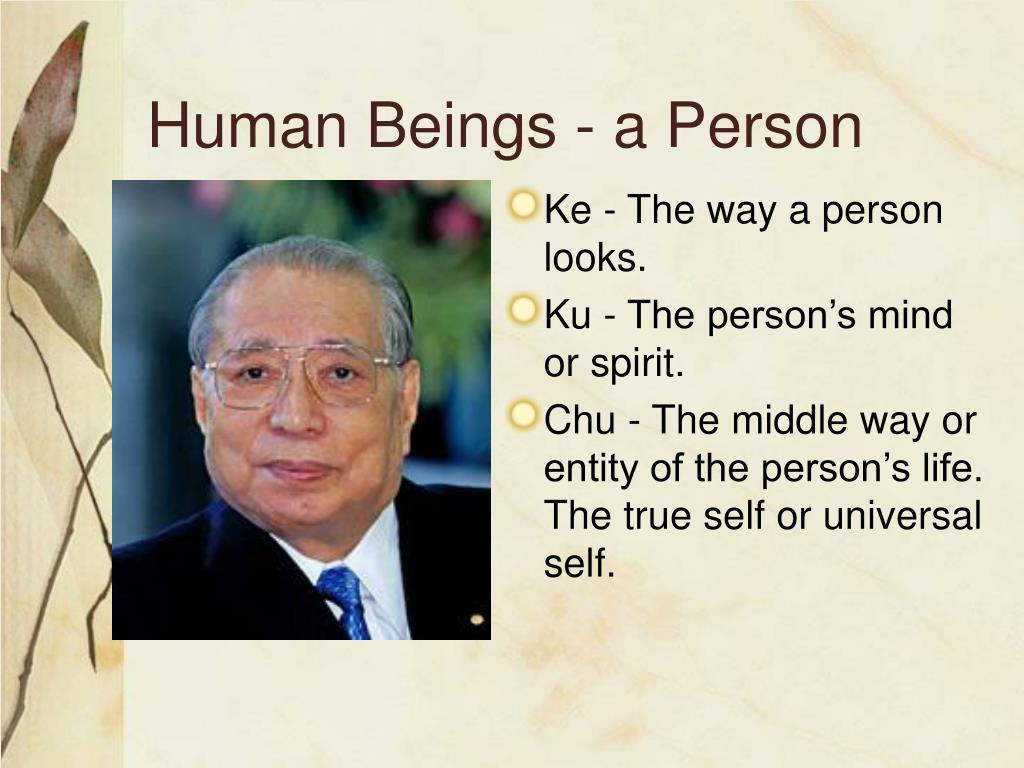 Human Beings - a Person