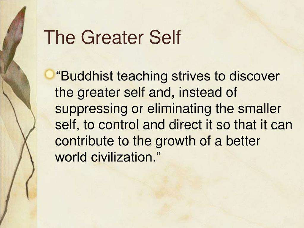 The Greater Self