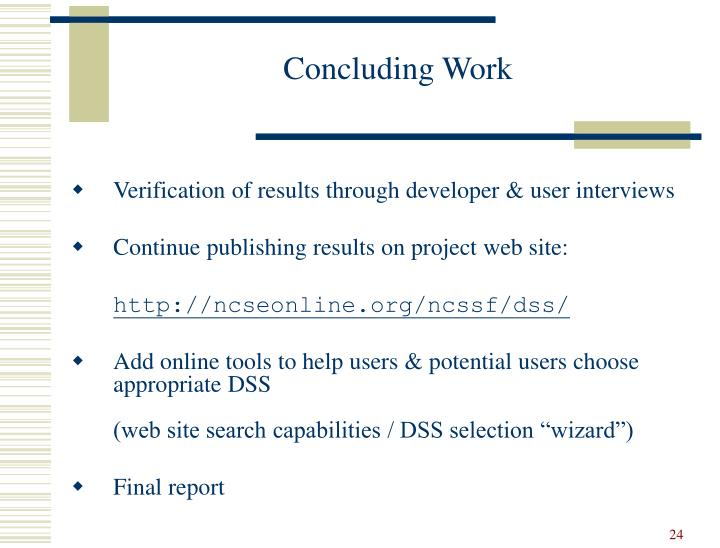 Concluding Work