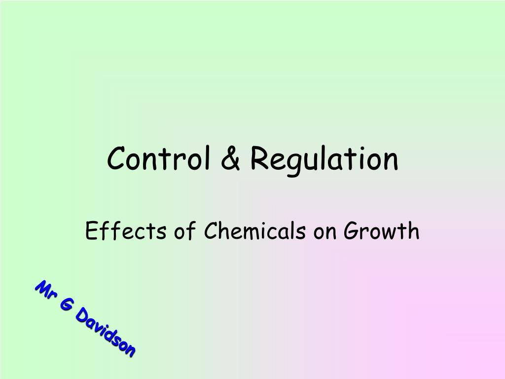 control regulation l.