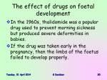 the effect of drugs on foetal development30
