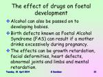 the effect of drugs on foetal development31