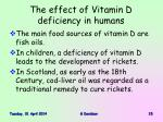 the effect of vitamin d deficiency in humans15