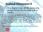 cultural dimension ii