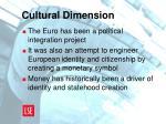 cultural dimension