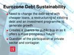 eurozone debt sustainability