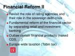 financial reform ii