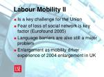 labour mobility ii