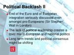 political backlash ii