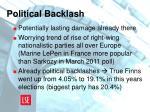 political backlash