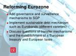 reforming eurozone