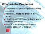 what are the problems