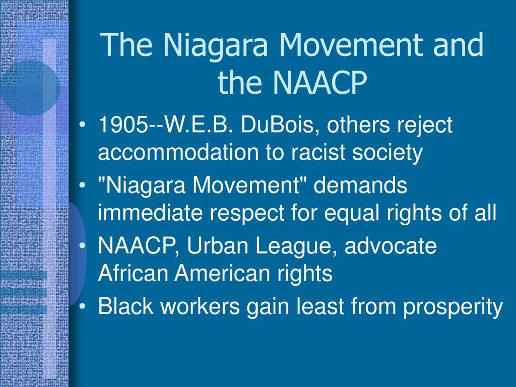The Niagara Movement and the NAACP