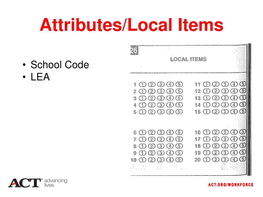 Attributes/Local Items