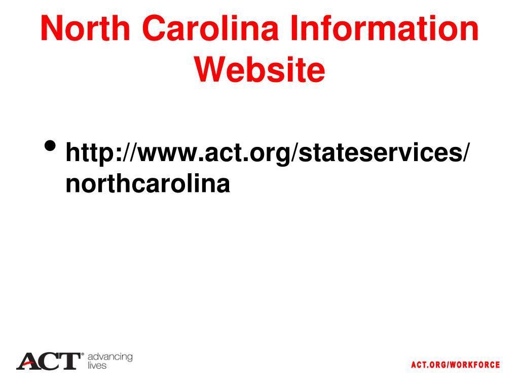 North Carolina Information Website