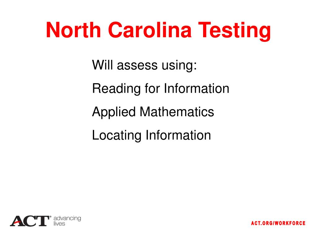 North Carolina Testing