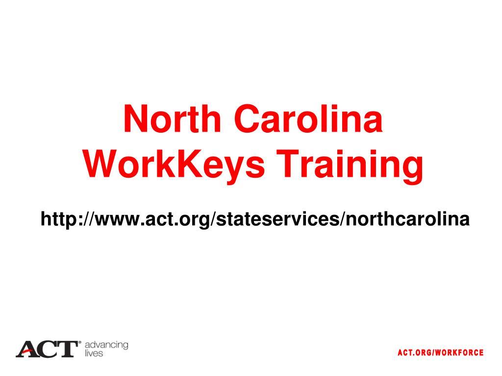 north carolina workkeys training l.