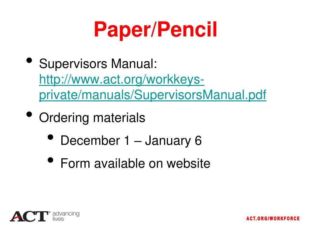 Paper/Pencil