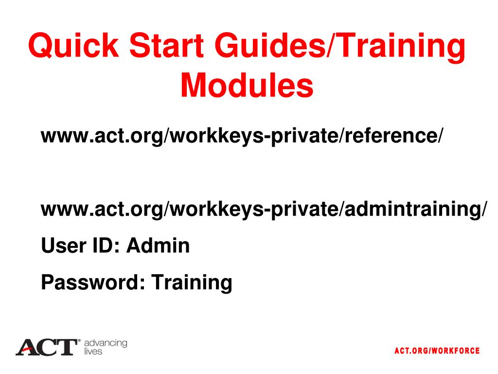 Quick Start Guides/Training Modules