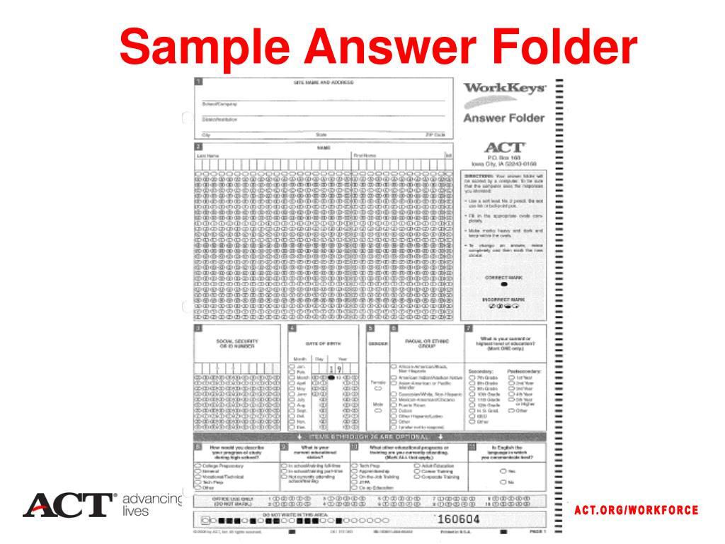 Sample Answer Folder