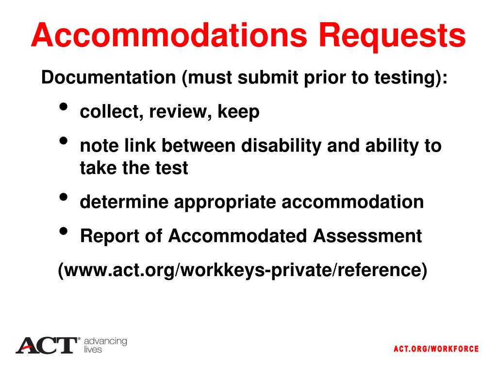 Accommodations Requests