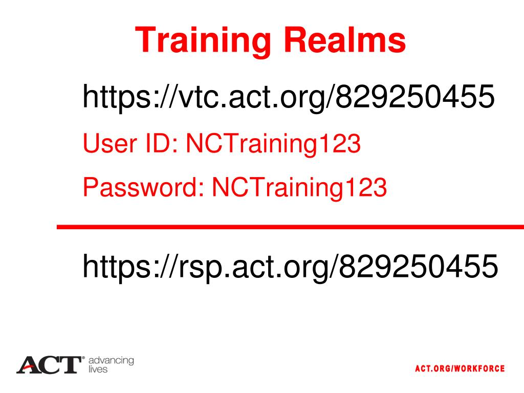 Training Realms