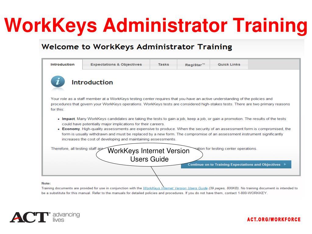 WorkKeys Administrator Training