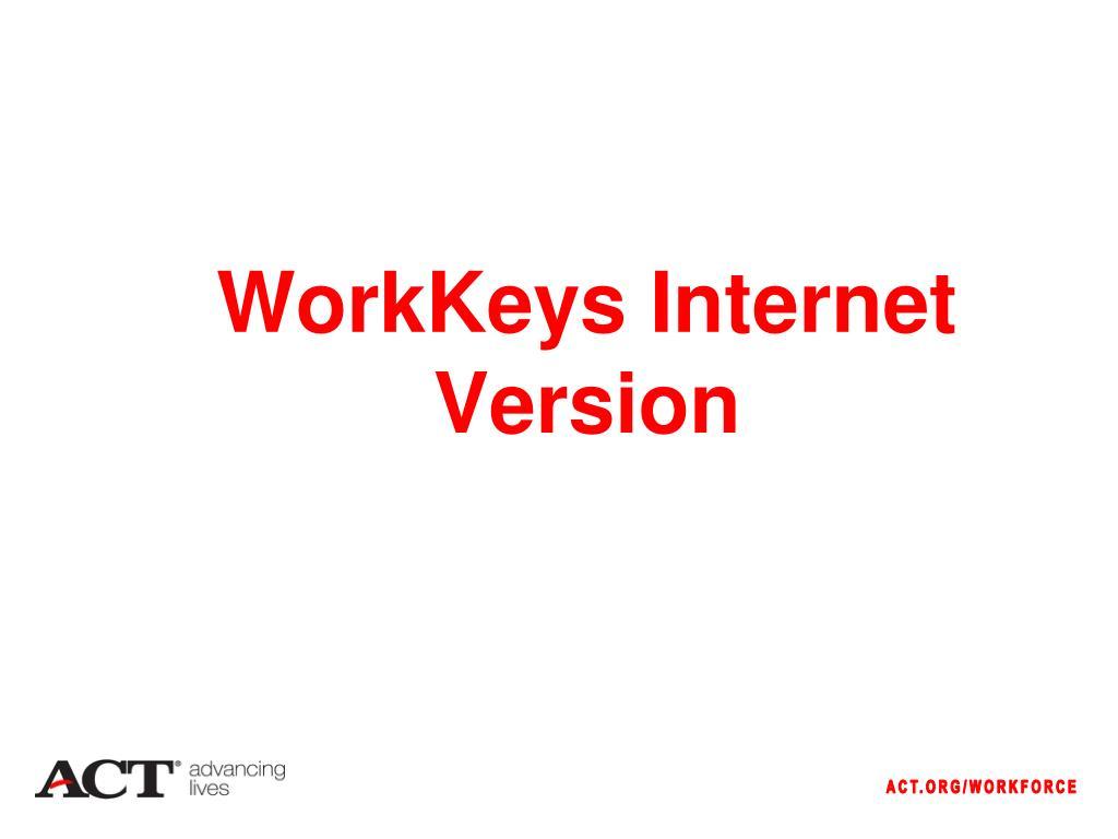 WorkKeys Internet Version