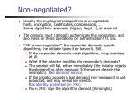 non negotiated