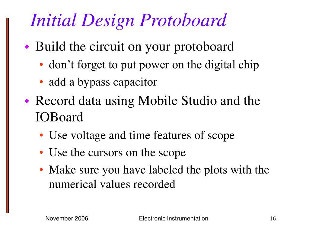 Initial Design Protoboard